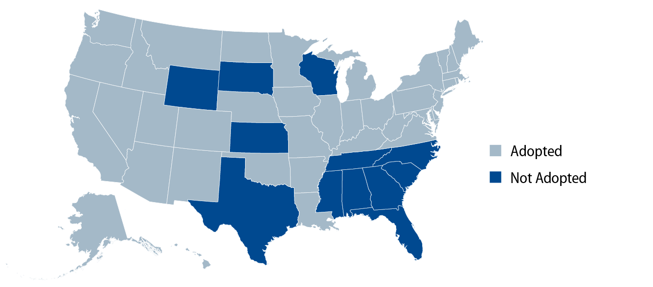 Explore Status of State Action on the Medicaid Expansion Decision.